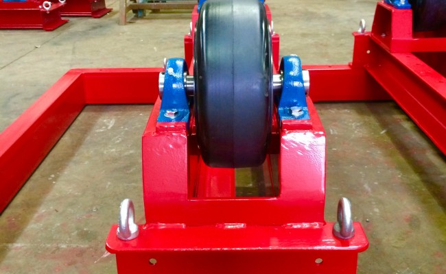 10. 5 Tonne Welding Rotators with Adjustable Fork Lift Truck Frame Aligning System