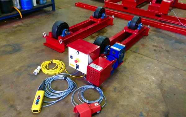 5 Tonne Welding Rotators 'Long Frame Model,' 110V inc. Foot Pedal & Pendant Operated