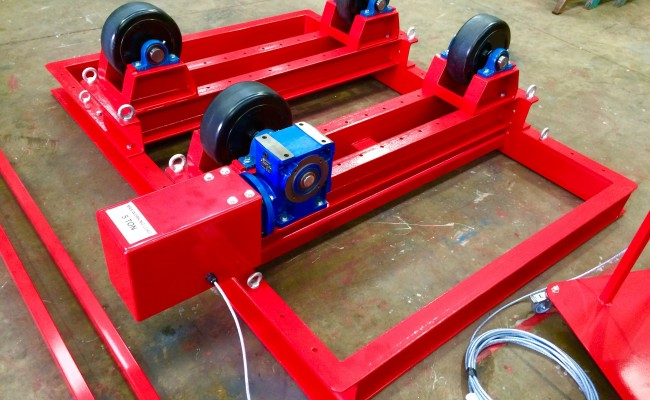 3. 5 Tonne Welding Rotators with Adjustable Fork Lift Truck Frame Aligning System