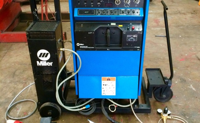 3. Miller Syncrowave 351 ACDC Digital Water Cooled TIG Welding Machine