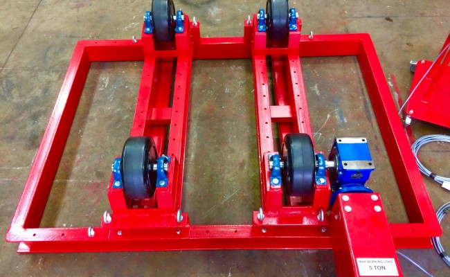 5. 5 Tonne Welding Rotators with Adjustable Fork Lift Truck Frame Aligning System