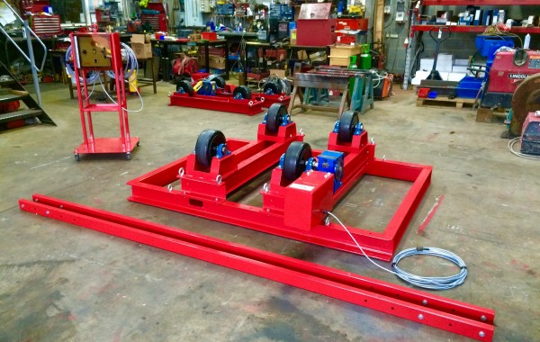 5 Tonne Welding Rotators with Adjustable Fork Lift Truck Frame Aligning System