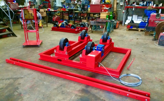 6. 5 Tonne Welding Rotators with Adjustable Fork Lift Truck Frame Aligning System