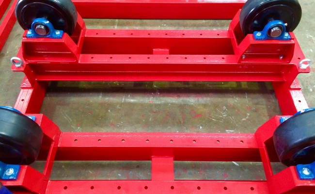 7. 5 Tonne Welding Rotators with Adjustable Fork Lift Truck Frame Aligning System