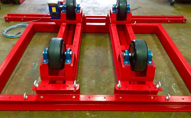 8. 5 Tonne Welding Rotators with Adjustable Fork Lift Truck Frame Aligning System