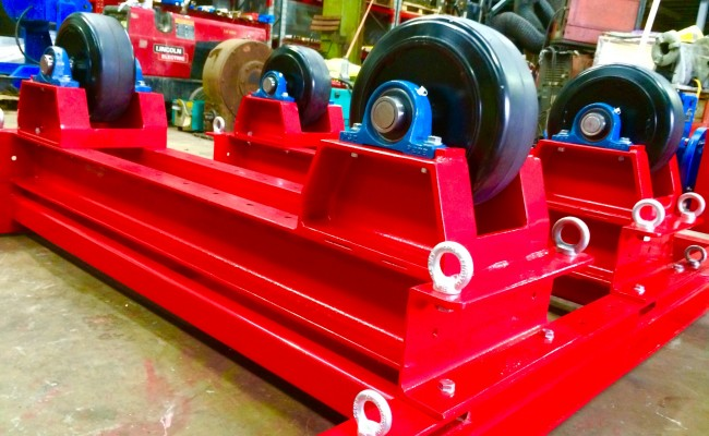 9. 5 Tonne Welding Rotators with Adjustable Fork Lift Truck Frame Aligning System
