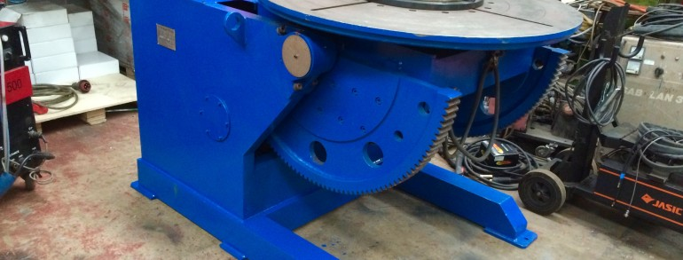 Used 3 Tonne Welding Positioner with 3 Jaw Chuck, inc. Foot Pedal and Pendant