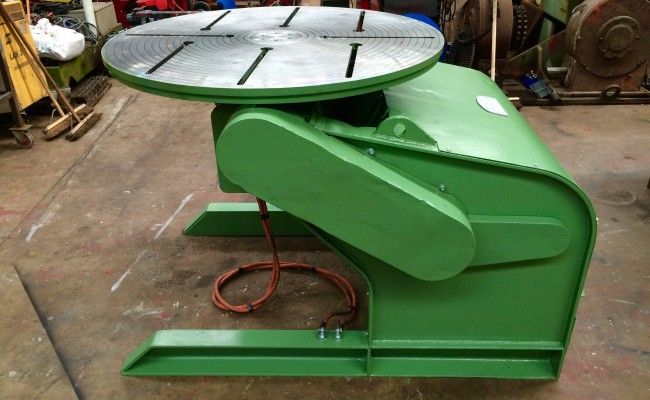 11. Reconditioing Used BODE 3 Tonne Heavy Duty Welding Positioner, with new table