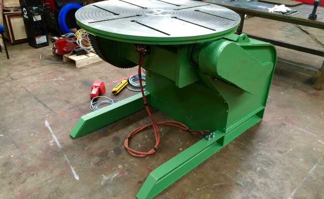 12. Reconditioing Used BODE 3 Tonne Heavy Duty Welding Positioner, with new table