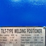 3. Used 3 Tonne Welding Positioner, blue with 3 jaw chuck