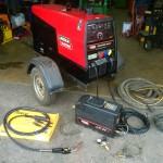 1. Lincoln Electric Ranger 305D Diesel Welder Generator with LN25 MIG Feeder Setup