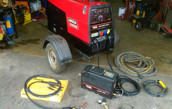 Lincoln Electric Ranger 305D Diesel Welder Generator with LN-25 MIG Welding Setup