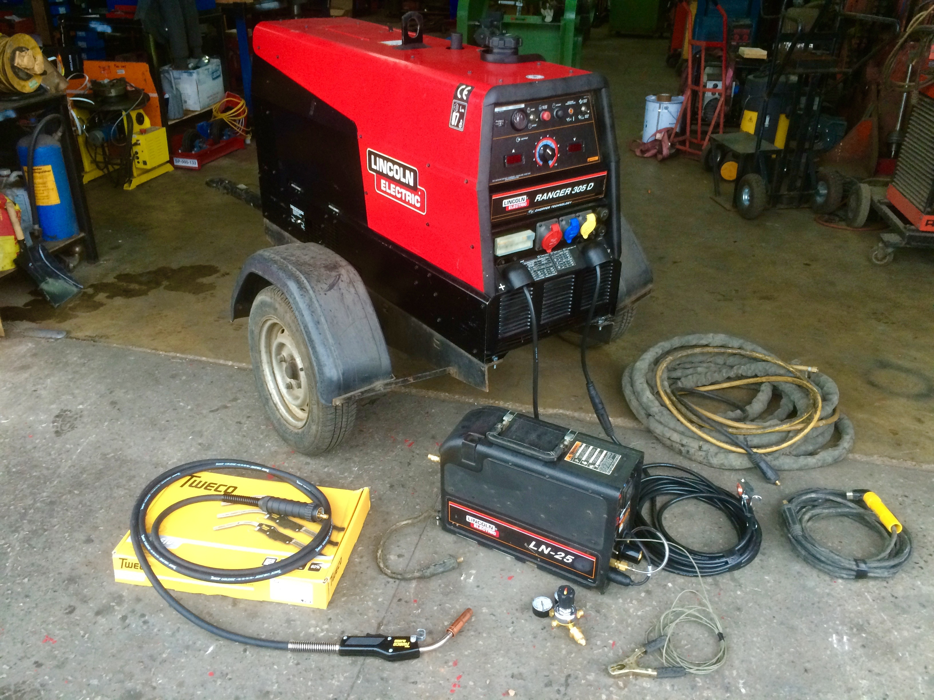 lincoln electric ranger 305d diesel welder generator with