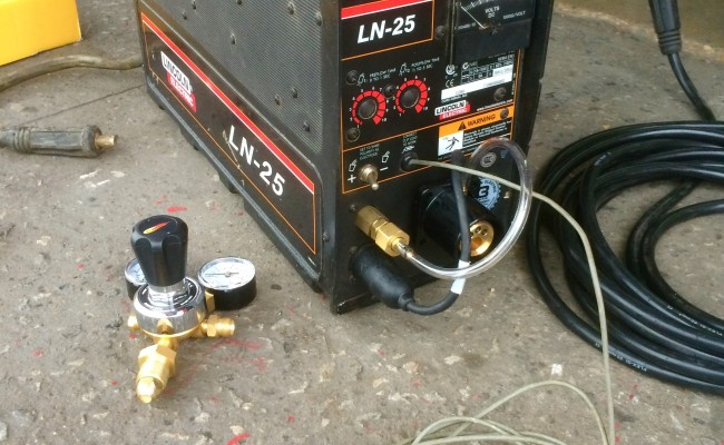3. Lincoln Electric Ranger 305D Diesel Welder Generator with LN25 MIG Feeder Setup
