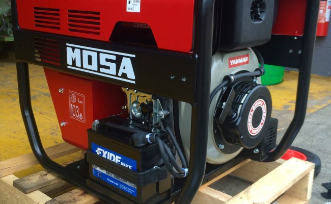 9. Mosa Magic Weld 200 YDE Diesel Welder Generator