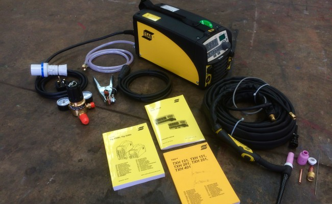 1. ESAB Caddy TIG 2200i TA34 240V Pulsed TIG Welding Machine
