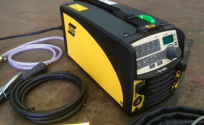 2. ESAB Caddy TIG 2200i TA34 240V Pulsed TIG Welding Machine