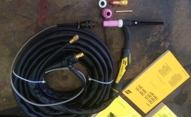 3. ESAB Caddy TIG 2200i TA34 240V Pulsed TIG Welding Machine