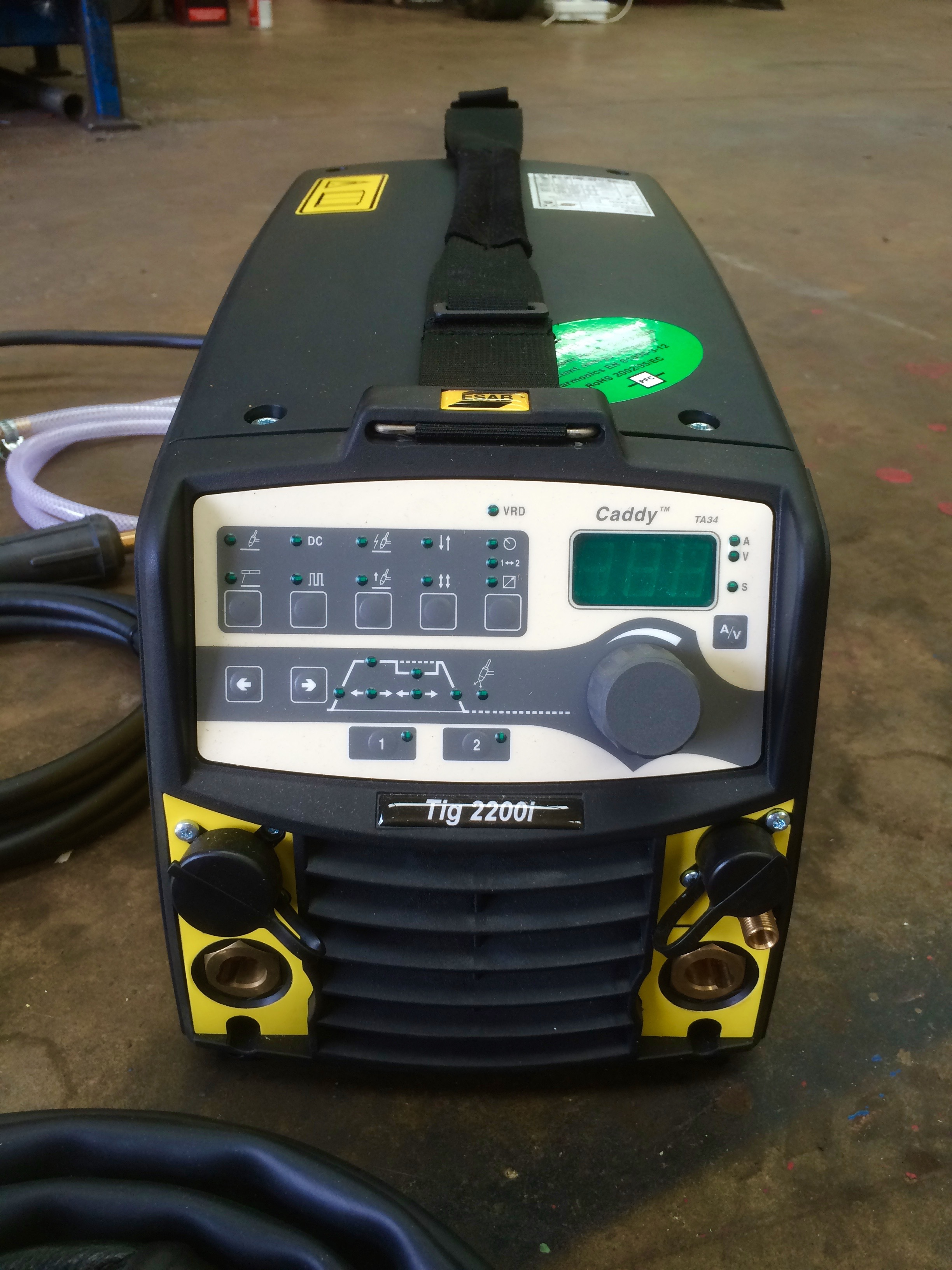 Esab Caddy Tig 2200i Ta33 Or Ta34 Pulsed Tig Welder