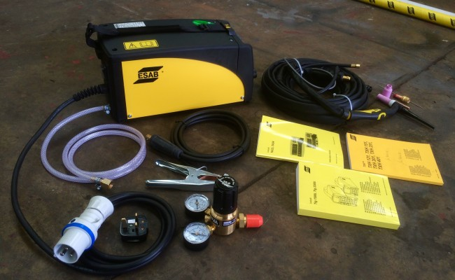 6. ESAB Caddy TIG 2200i TA34 240V Pulsed TIG Welding Machine