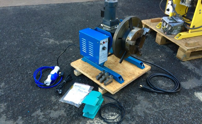 1. 100kg Welding Positioner 240V including 3 Jaw 8 inch Quick Release Chuck