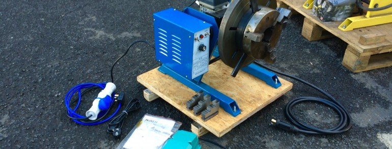 100kg Welding Positioner 240V including 3 Jaw Chuck, available for hire or buy