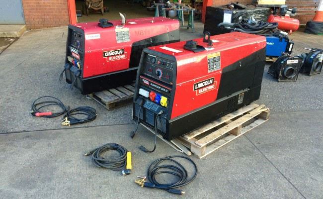 1. Lincoln Electric Ranger 305D welder generator skid mounted