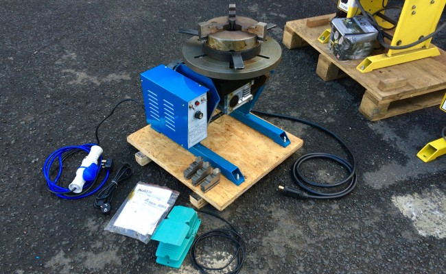 7. 100kg Welding Positioner 240V including 3 Jaw 8 inch Quick Release Chuck