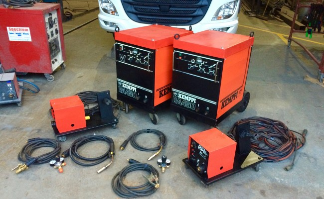 1. Kemppi RA450 MIG Welding Machine Complete With Rival 4 Drive Roll Wire Feeder Complete Package