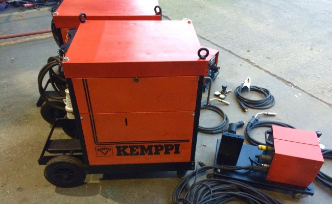 10. Kemppi RA450 MIG Welding Machine Complete With Rival 4 Drive Roll Wire Feeder Complete Package