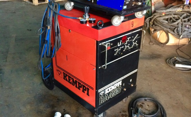 2. Kemppi RA450 MIG Welding Machine Complete With Rival 4 Drive Roll Wire Feeder Complete Package