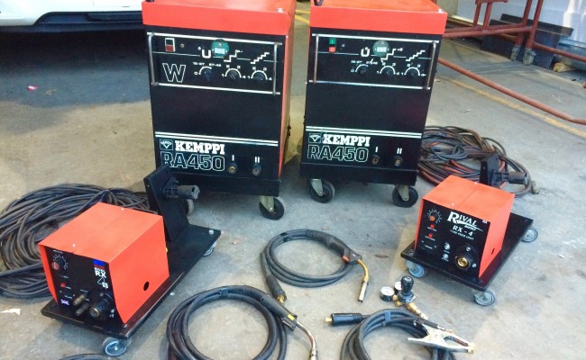 7. Kemppi RA450 MIG Welding Machine Complete With Rival 4 Drive Roll Wire Feeder Complete Package