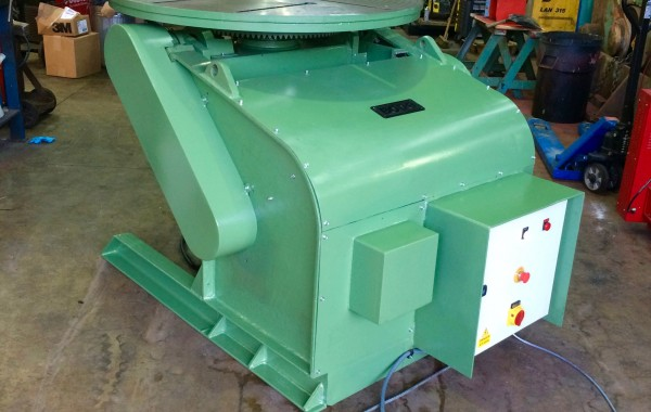 BODE 3 Tonne Welding Positioner For Hire and Sale, Fully Reconditioned with Foot Pedal and Pendant Remote Control including brand new machined table