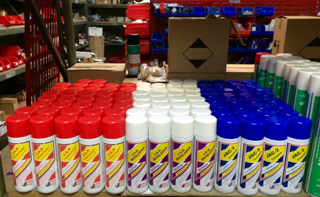 1. Johnson and Allen Welding Crack Detection Dye Penetrant Spray Cans