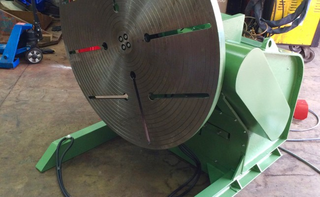 10. BODE 3 Tonne Welding Positioner For Hire and Sale, Fully Reconditioned with Foot Pedal and Pendant Remote Control including brand new machined table