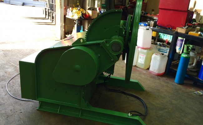 14. BODE 3 Tonne Welding Positioner For Hire and Sale, Fully Reconditioned with Foot Pedal and Pendant Remote Control including brand new machined table
