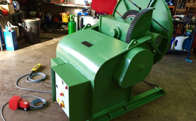 15. BODE 3 Tonne Welding Positioner For Hire and Sale, Fully Reconditioned with Foot Pedal and Pendant Remote Control including brand new machined table