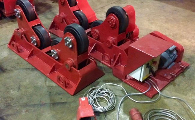 1. BODE 3 Tonne SAR Self Aligning Welding Rotators, 415V