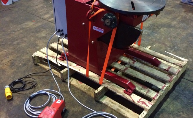 4. Brand New 250kg Welding Positioner 110V, Modified In-House with 4 Meter Pendant Remote Control and Variable Speed for Sale and Hire