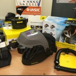 4. ESAB Albatross 4000X Auto Darkening Air Fed Welding Helmet with Internal Grinding Visor