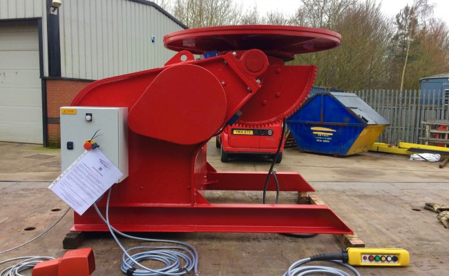 5. BODE 3 Tonne Welding Positioner 415V Fully Reconditioned and Sold For Crated International Shipment
