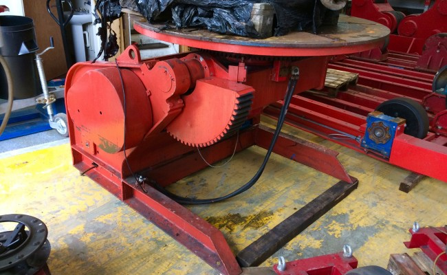 1. BODE 5 Tonne Welding Positioner Fully Reconditioned, Refurbishment Process