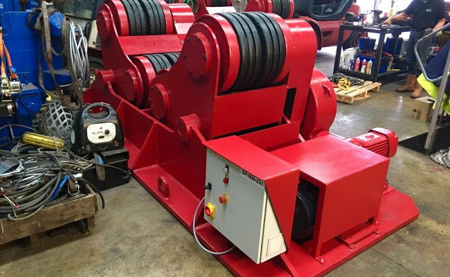 11. Reconditioning BODE SAR 2000 100 Tonne Self Aligning Welding Rotators for Hire or to Buy