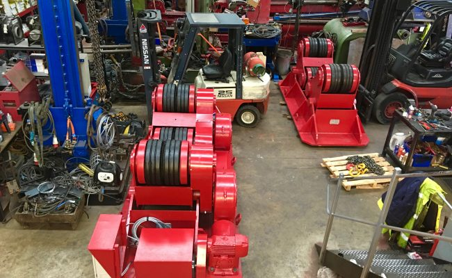 12. Reconditioning BODE SAR 2000 100 Tonne Self Aligning Welding Rotators for Hire or to Buy