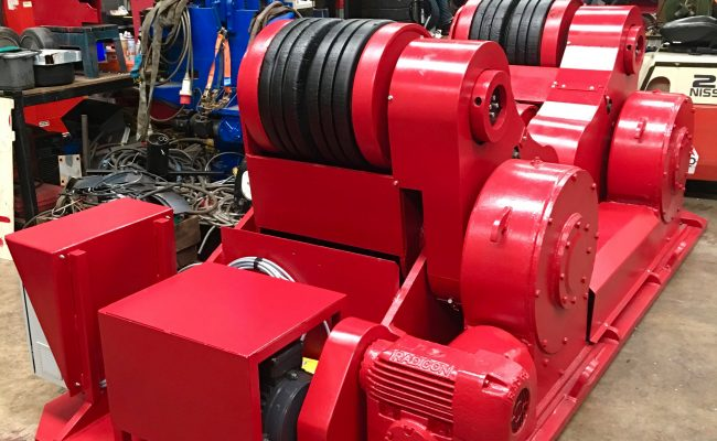 14. Reconditioning BODE SAR 2000 100 Tonne Self Aligning Welding Rotators for Hire or to Buy