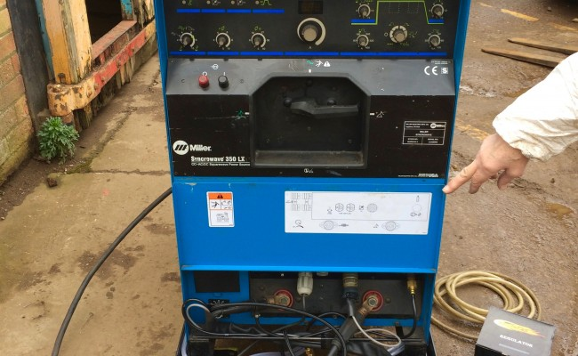 2. Miller Syncrowave 350 LX AC:DC Water Cooled TIG Welding Machine Hire Package