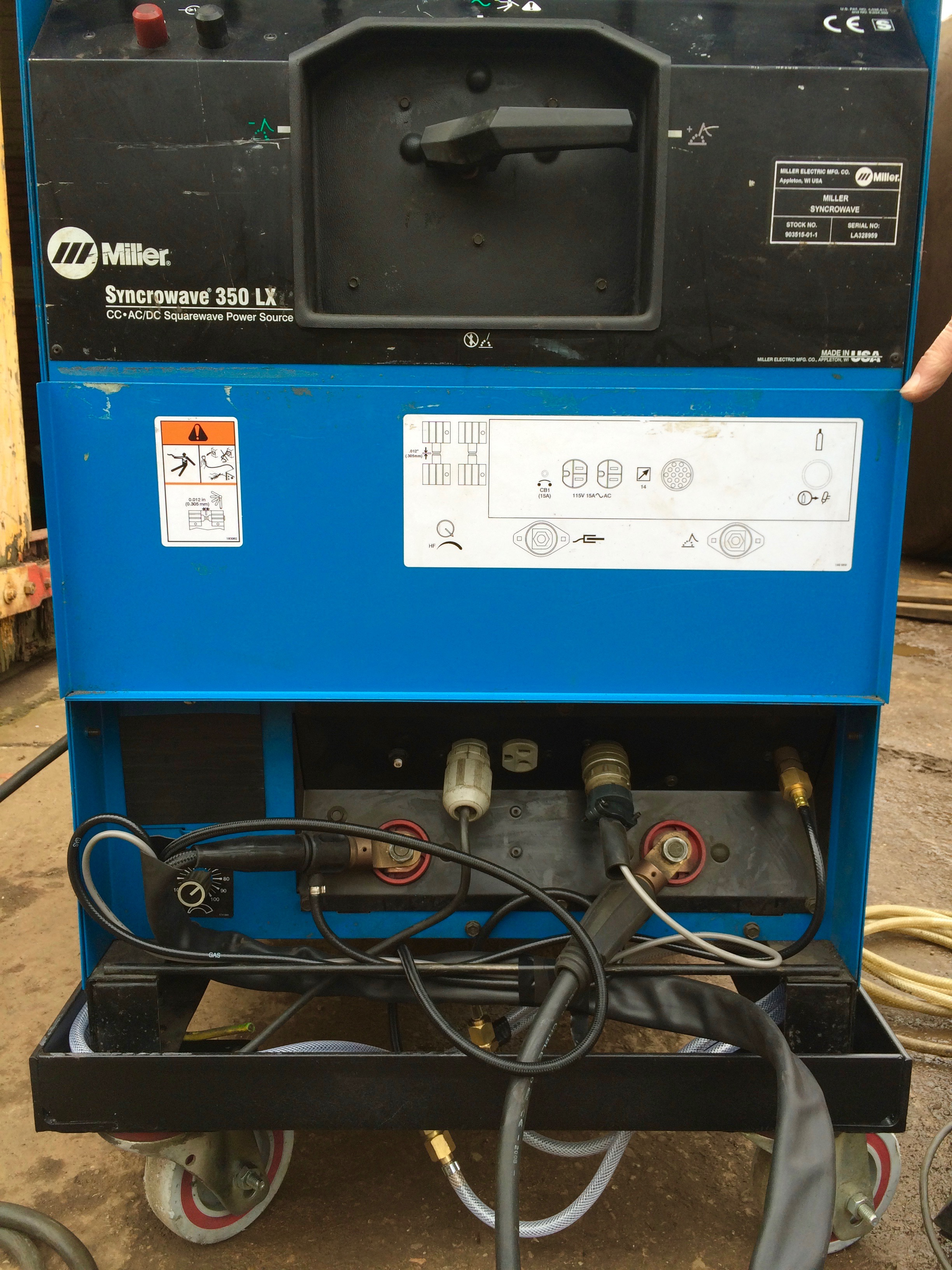 Miller Syncrowave 350 LX AC/DC Water Cooled TIG Welding Machine Hire ...