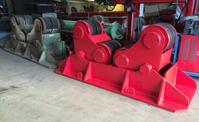 6. Reconditioning BODE SAR 2000 100 Tonne Self Aligning Welding Rotators for Hire or to Buy