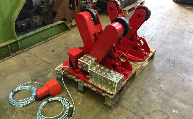 1. BODE 2 Tonne Scissor Pipe Rotators 110V, Fully Reconditioned