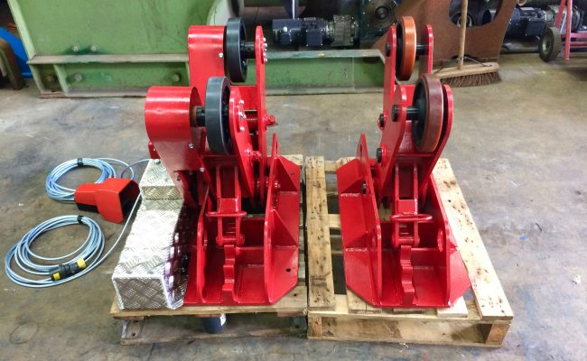 2. BODE 2 Tonne Scissor Pipe Rotators 110V, Fully Reconditioned